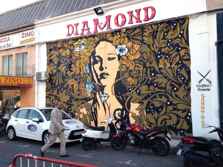 Diamond's  mural.